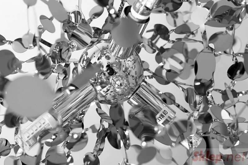 Lampa wisząca MONETE chromowana - metal