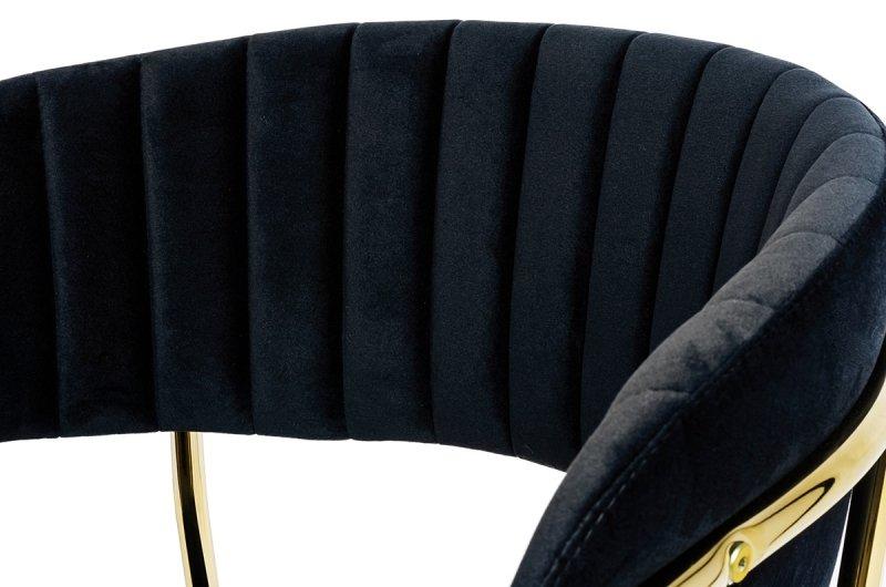 Hoker MARGO 65 czarny - welur, podstawa złota