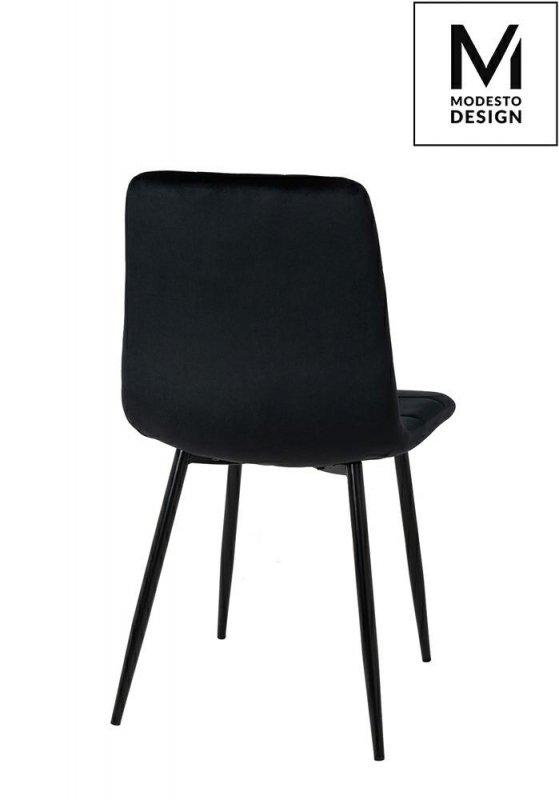 MODESTO krzesło CARLO czarne - welur, metal