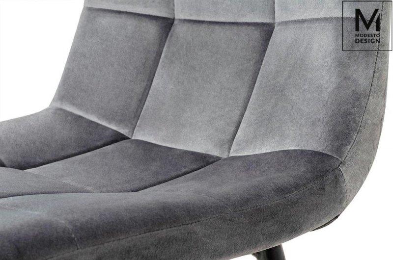 MODESTO krzesło CARLO ciemny szary - welur, metal