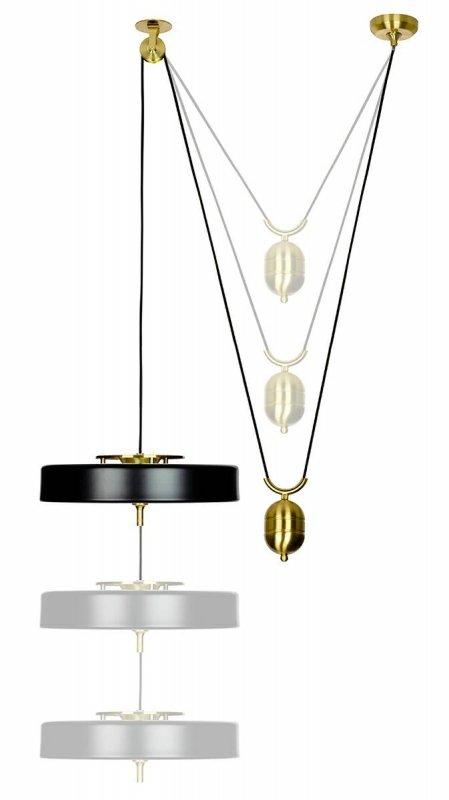 Lampa wisząca ARTE MOVE czarna  - aluminium, metal