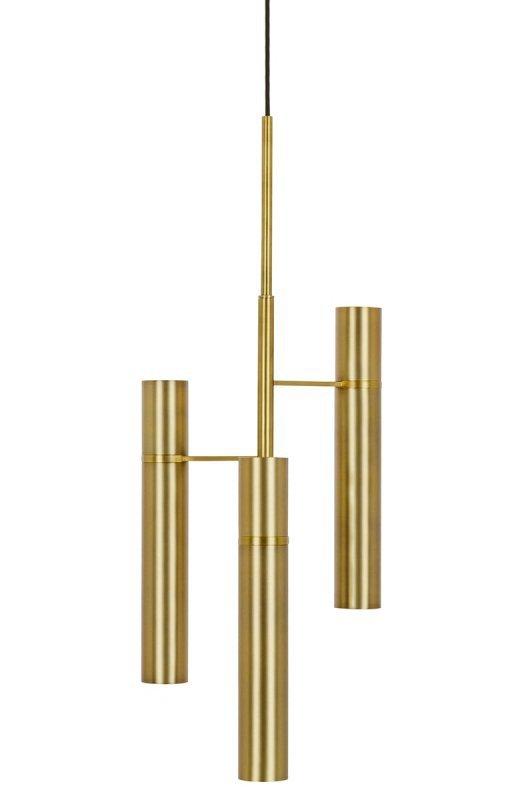 Lampa wisząca TUBI złota - mosiądz, aluminium