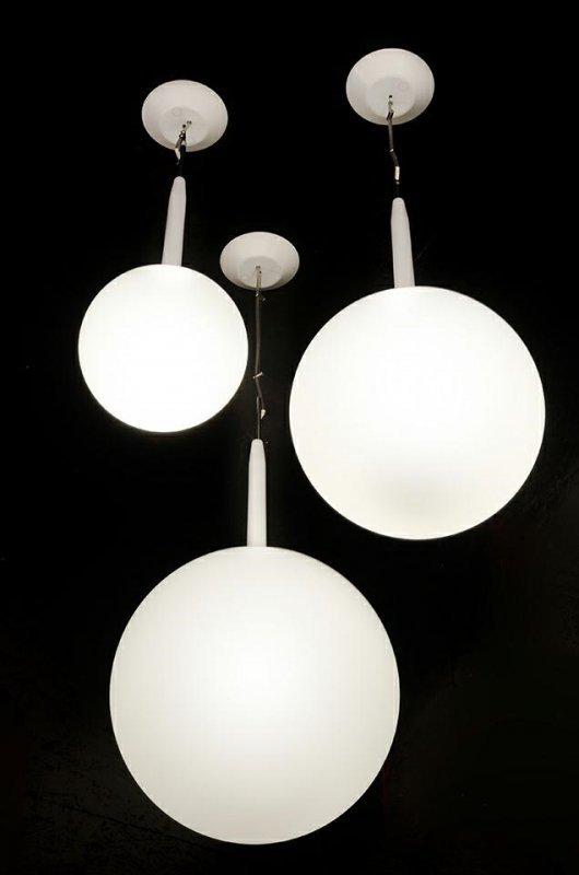 Lampa wisząca CASTRO 42 - szkło, stal