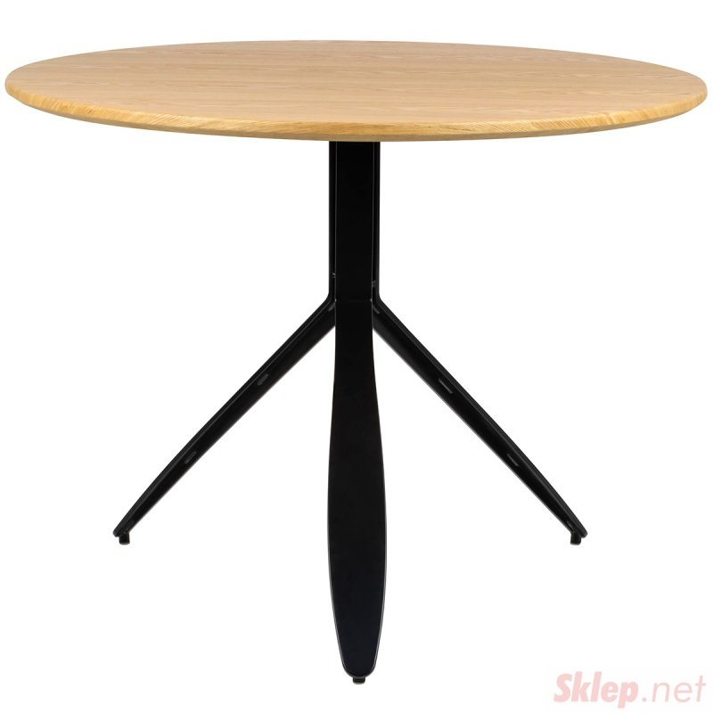 Stół FELIX dąb - MDF, fornir, czarny metal