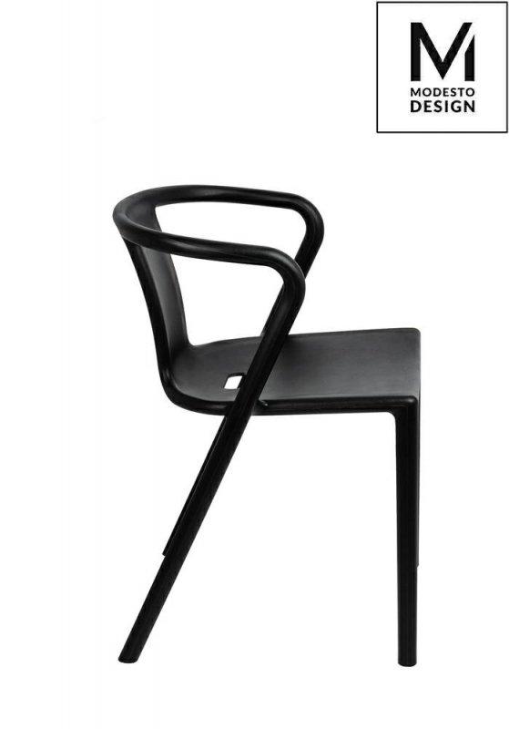 MODESTO krzesło AIR czarne - polipropylen