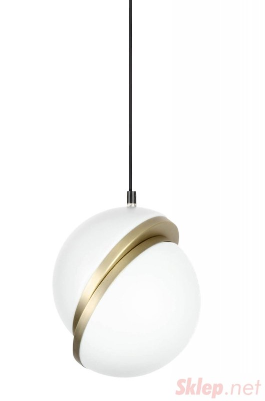 Lampa wisząca GLOBE 20 złota - LED, akryl, metal