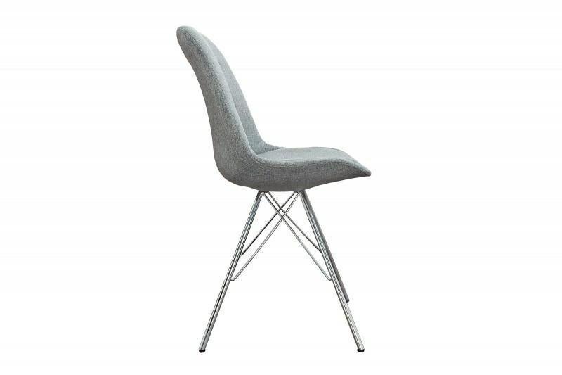 INVICTA krzesło tapicerowane SCANDINAVIA RETRO szare