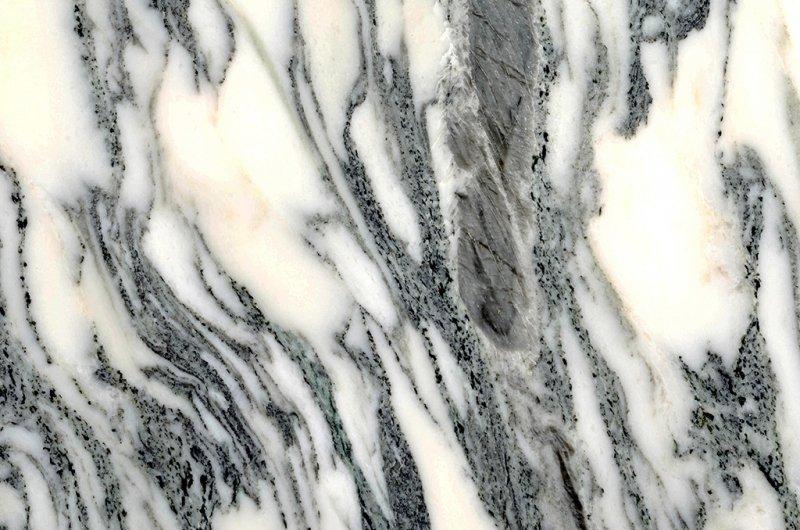 Stół TULIP ELLIPSE MARBLE ARABESCATO  - biały - blat owalny marmurowy, metal