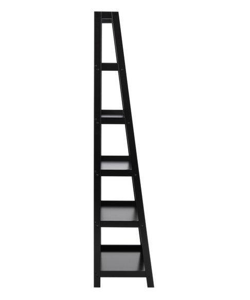 ACTONA regał WALLY 63x180 czarny-drewniany