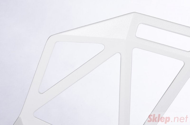 Krzesło SPLIT PREMIUM białe - aluminium, nogi białe