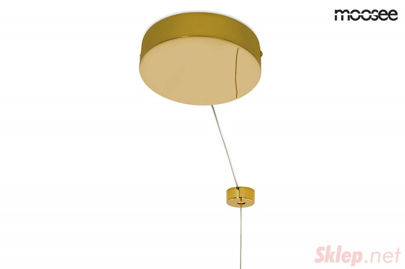 MOOSEE lampa wisząca RING LUXURY 110 złota - LED, chromowane złoto