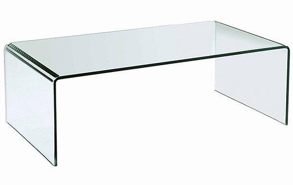 Stolik szklany PRIAM A transparentny, druga kategoria - szkło 10mm