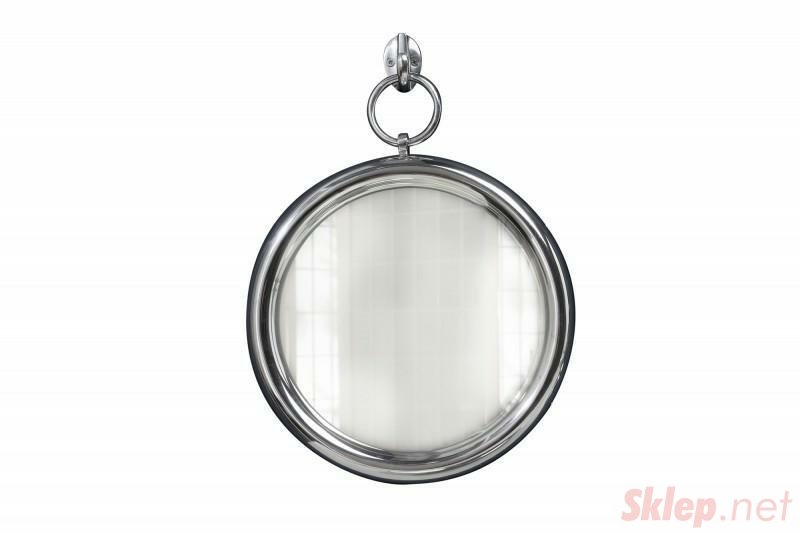 INVICTA Portrait lustro wiszące PORTRET 30 cm , srebrne - metal, szkło