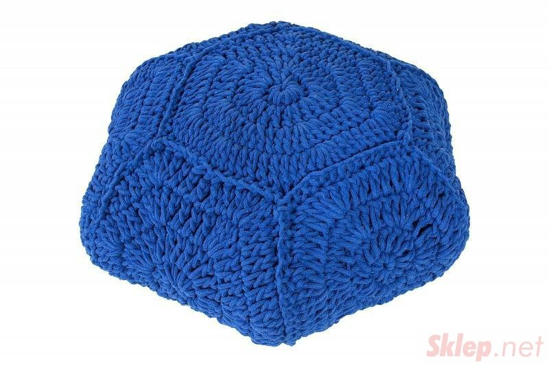 INVICTA pufa COSY IV niebieska - bawełna