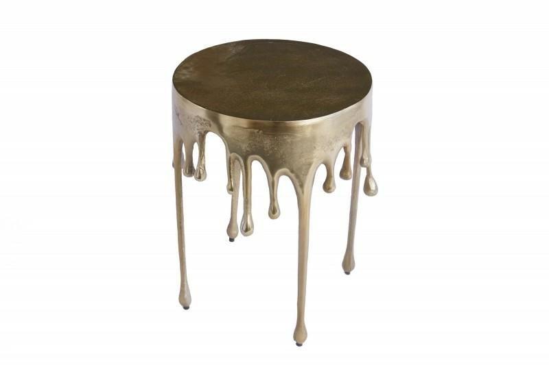 INVICTA stolik kawowy LIQUID LINE 51  złoty - metal