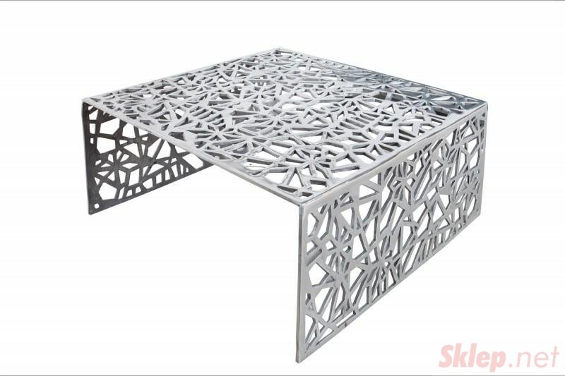INVICTA stolik kawowy ABSTRACT 60cm  - srebrny, aluminium