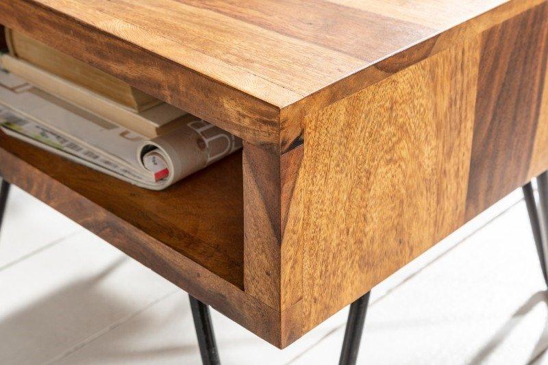 INVICTA stolik SCORPION 45 cm sheesham - lite drewno palisander, metal