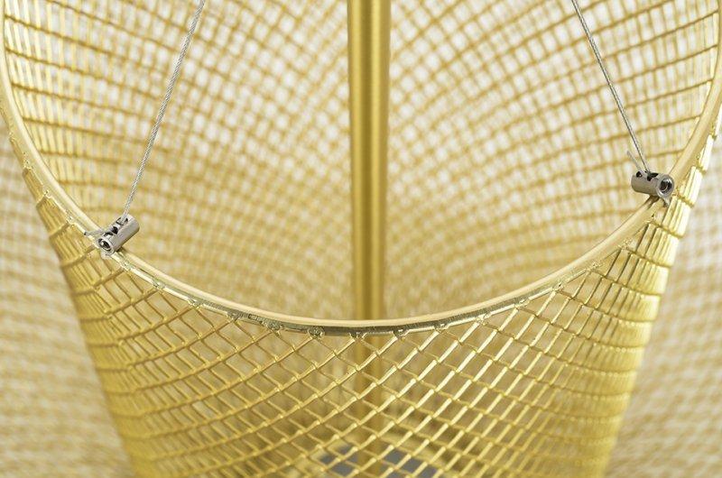 Lampa wisząca ILLUSION XL 90 złota - LED, metal