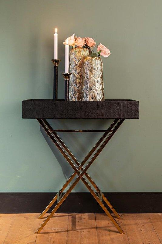 RICHMOND stolik barowy BUSTER czarno-złoty