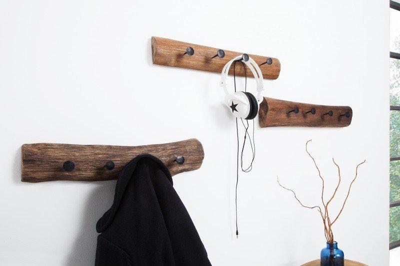 INVICTA wieszak HEMINGWAY 50 cm  - naturalny, drewno naturalne, metal