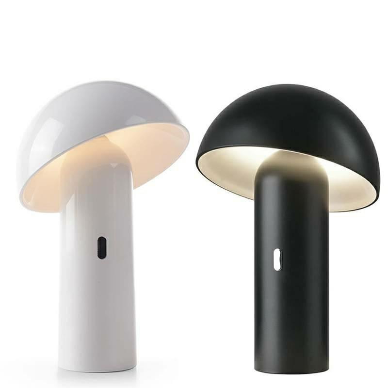 NEW GARDEN lampa biurkowa ENOKI BLANCO INDOOR & OUTDOOR biała - LED, wbudowana bateria