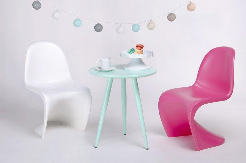 Krzesło dziecięce HOVER JUNIOR różowe - polipropylen