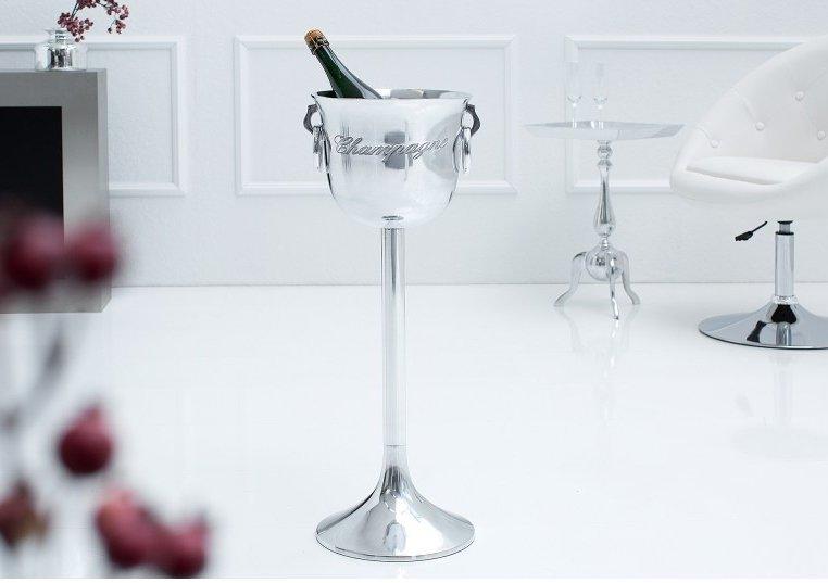 INVICTA CHAMPAGNE 75 cm chłodziarka do szampana - aluminium