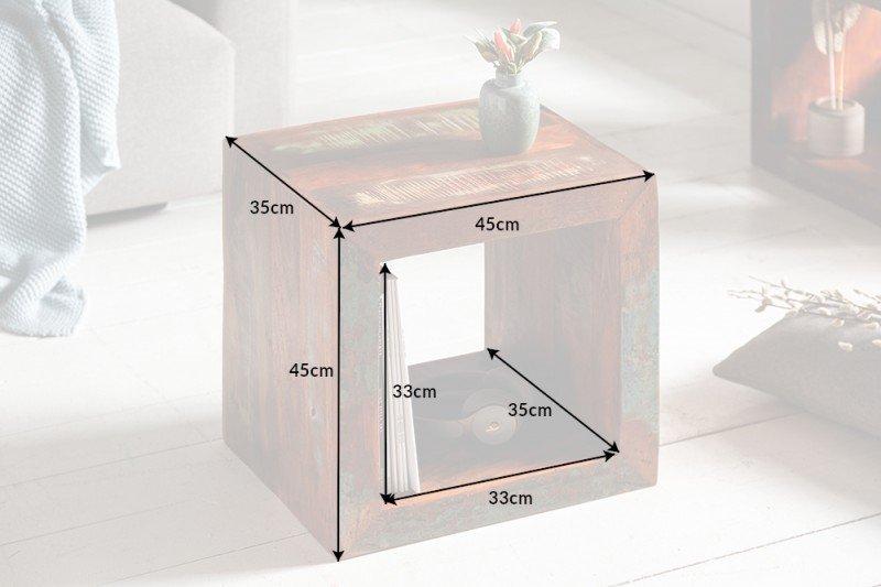 INVICTA stolik JAKARTA 45 cm  - drewno z recyklingu