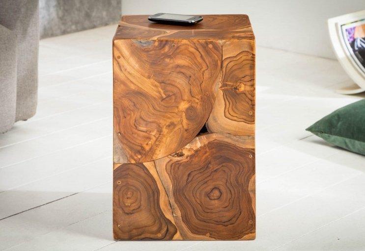 INVICTA stolik SQUARE 30 cm  - drewno tekowe
