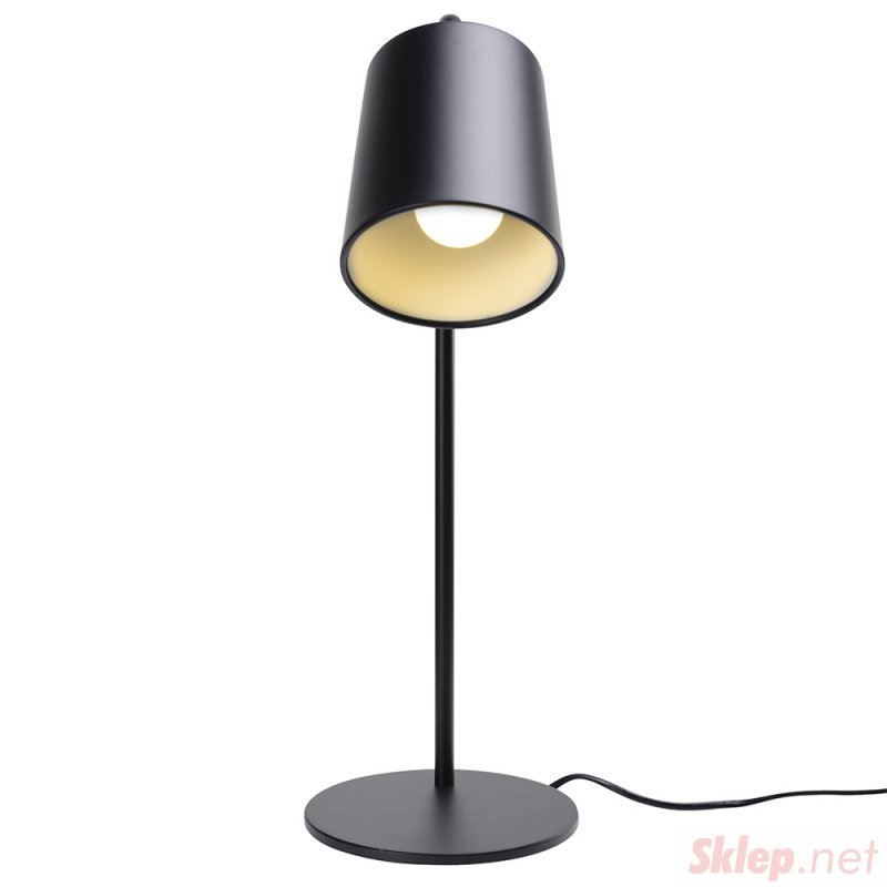 Lampa biurkowa FLAMING TABLE czarna