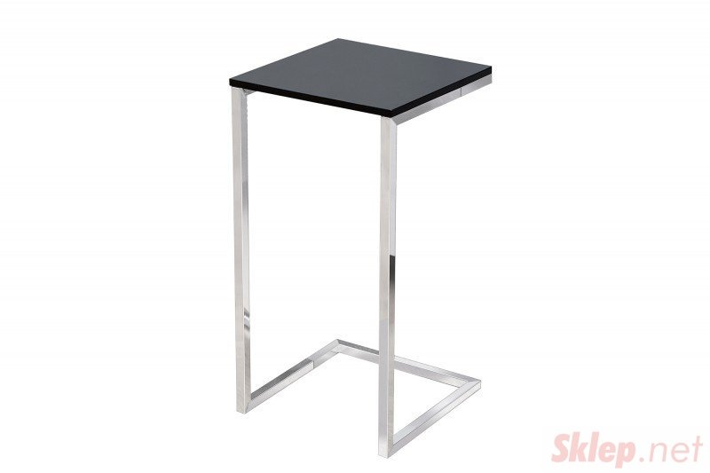 INVICTA stolik SIMPLY czarny - podstawa chromowana