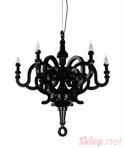 Lampa wisząca PAPYRUS CHANDELIER 70 - czarna