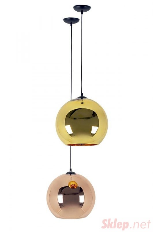 Lampa wisząca BOLLA UP ROSE GOLD 25 - szkło metalizowane