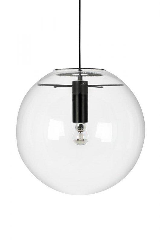 Lampa wisząca SANDRA 35 czarna - szkło, metal