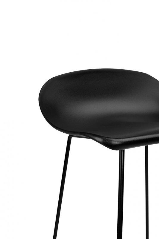 Hoker ROLF czarny 66 cm - polipropylen, metal
