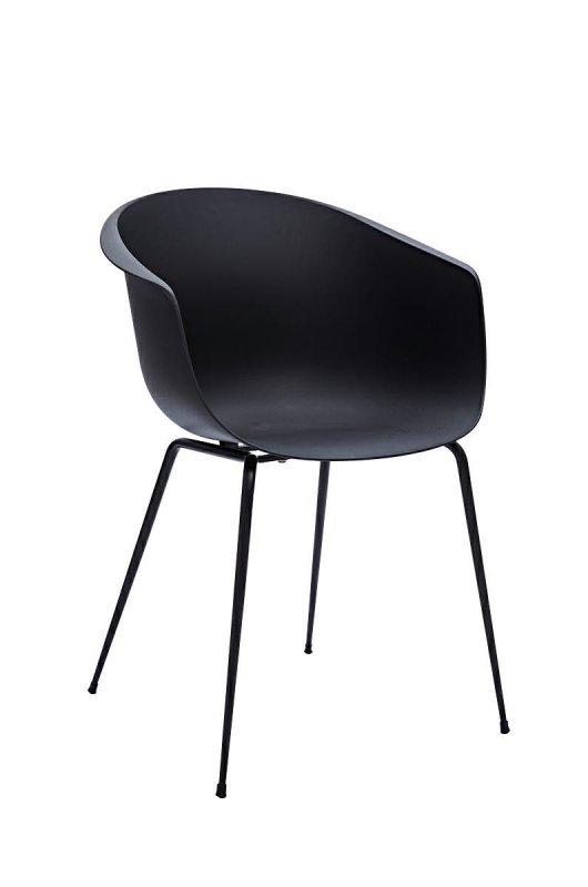 Krzesło RALF czarne - polipropylen, metal