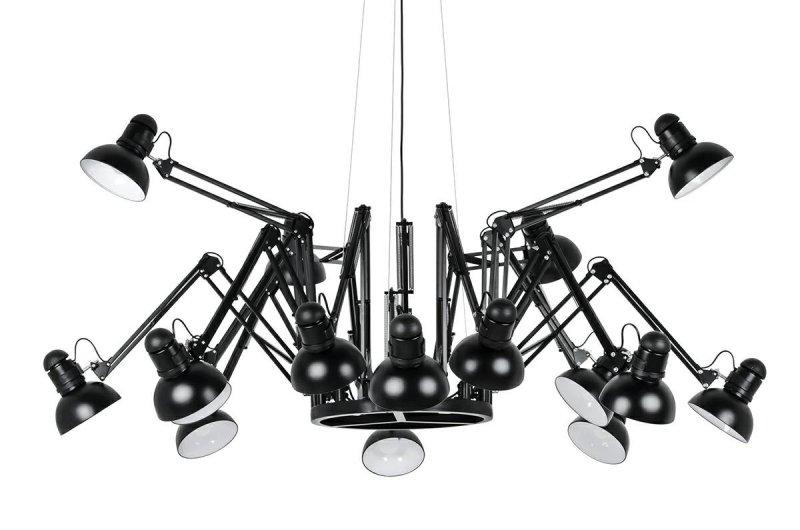 Lampa wisząca RAGNO 16 czarna - aluminium