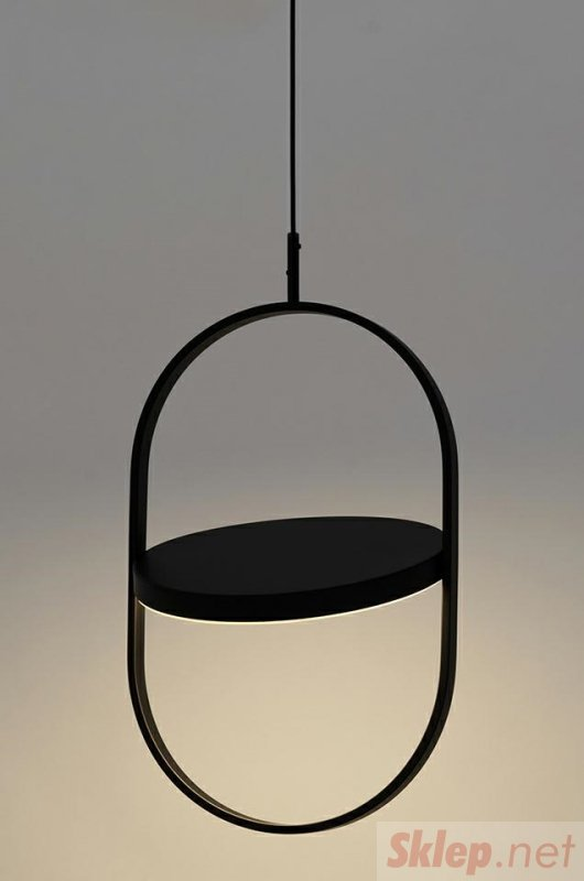 Lampa wisząca SPINNER 38 czarna - LED, aluminium