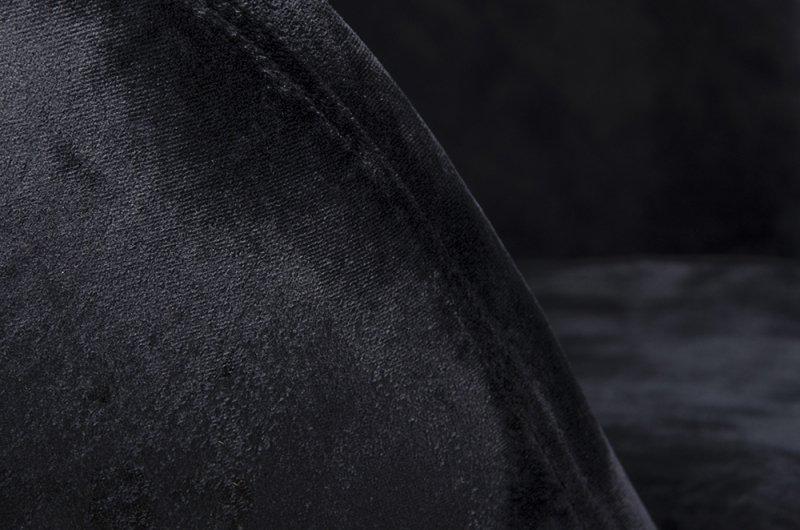 Fotel EGG SZEROKI VELVET z podnóżkiem czarny.50 - welur, podstawa stal