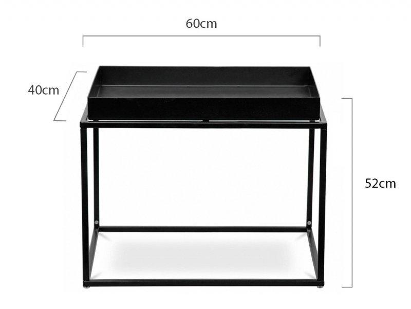 Stolik RITTA XL czarny - metal