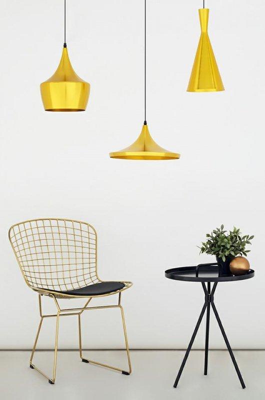 Lampa wisząca BET SHADE WIDE złota - środek złoty