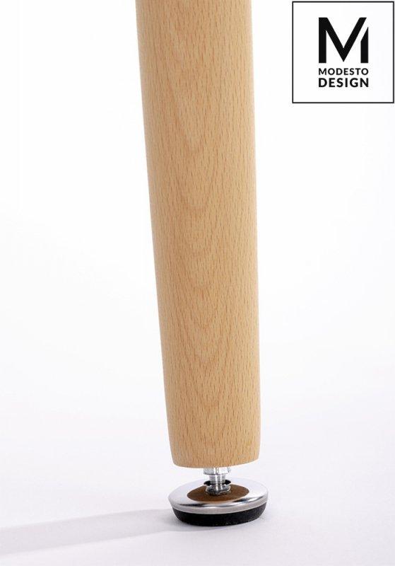 MODESTO stół HIDE FI 80 biały - blat MDF, podstawa drewniana