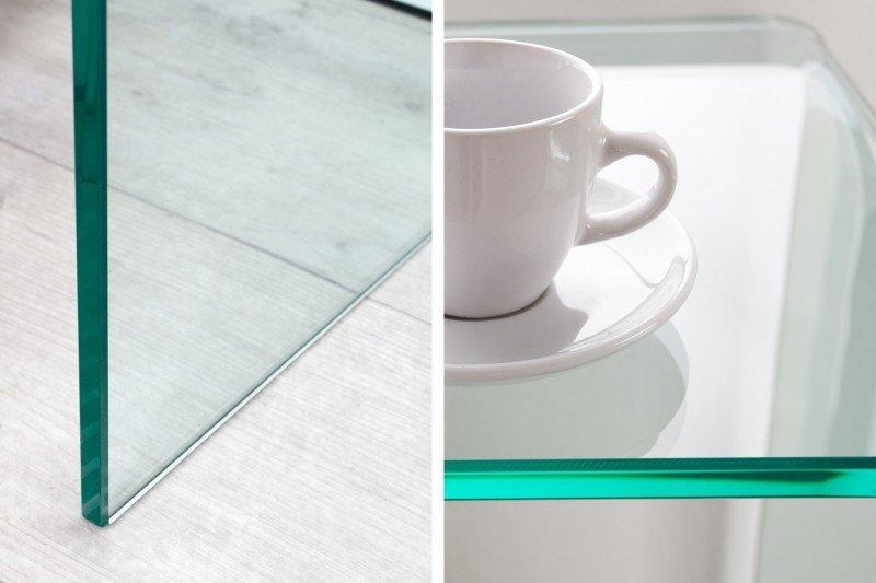 INVICTA biurko szklane FANTOME 100 transparente - szkło 12 mm.