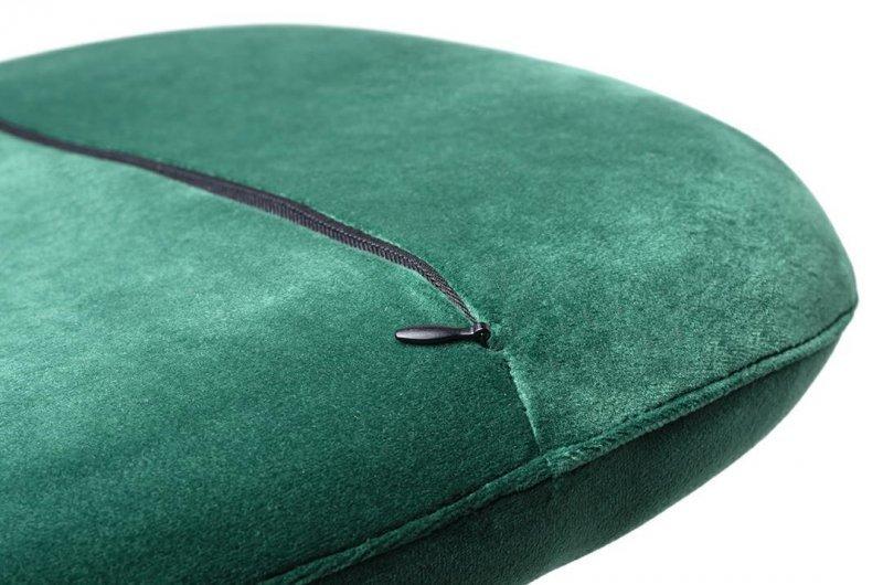 Fotel EGG CLASSIC VELVET zielony - welur, podstawa aluminiowa