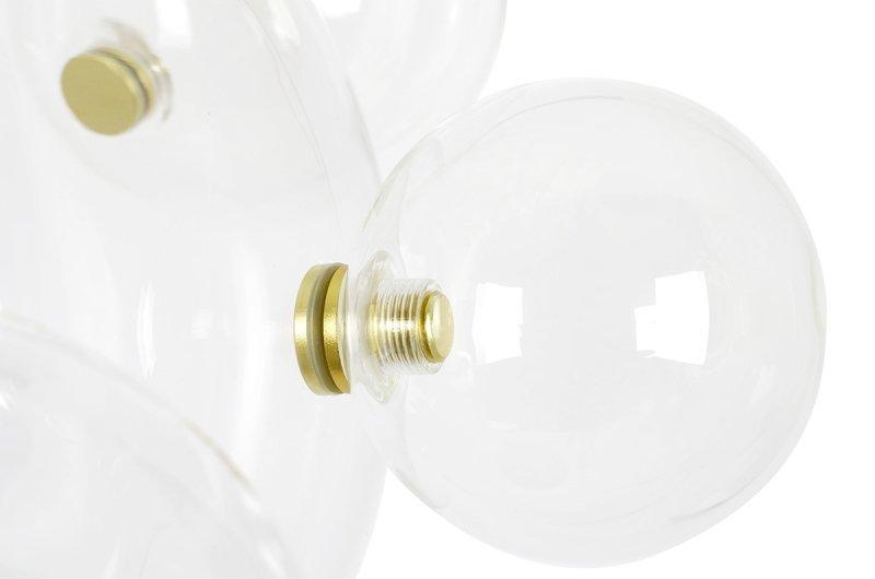Lampa wisząca CAPRI LINE 3 złota - 180 LED, aluminium, szkło