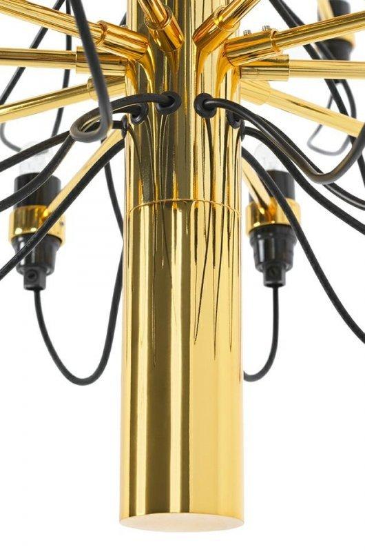Lampa wisząca GINO GOLD 100 złota - stal węglowa