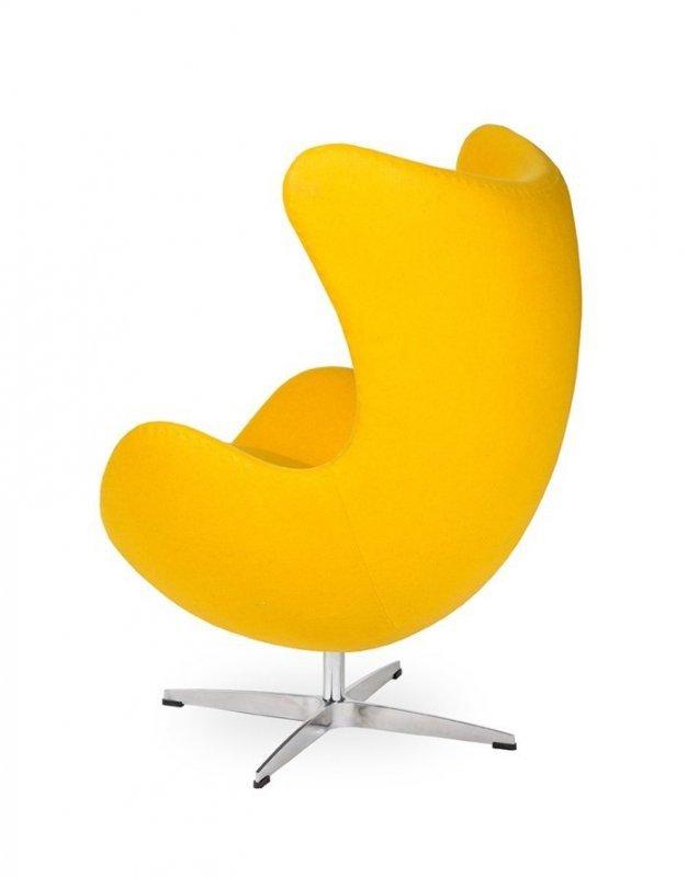 Fotel EGG CLASSIC żółty słoneczny.36 - wełna, podstawa aluminiowa