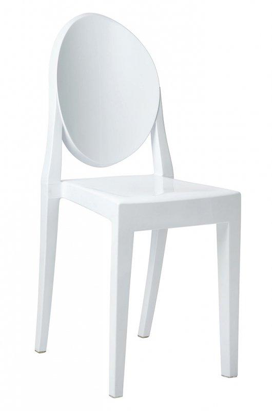 Krzesło VICTORIA białe  - poliwęglan