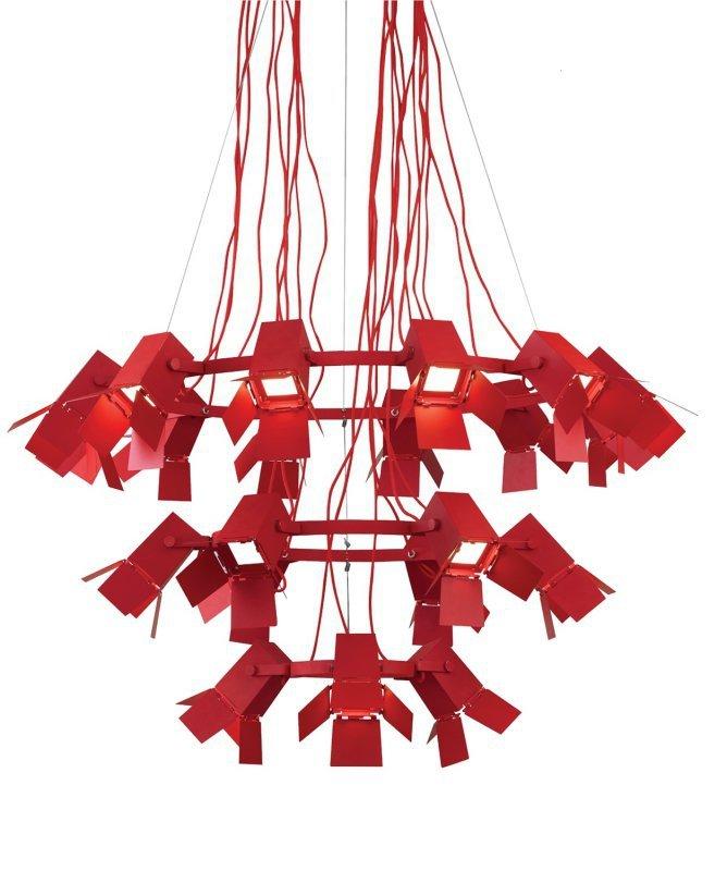 Lampa wisząca FOTO czerwona