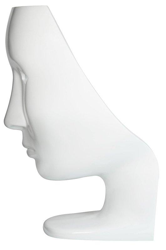 Fotel NEMO FACE CHAIR biały - włókno szklane